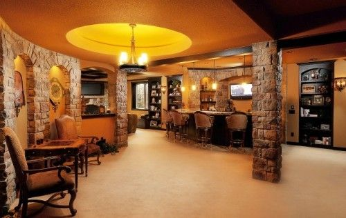 Traditional Basement By Basements Beyond Basement Inspiration Traditional Family Rooms Home Pub