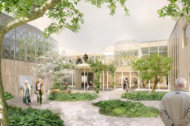 Gardens Elderly Centre Marge Arkitekter Future Project Residential Healthcare Architecture Green Architecture Healthcare Design