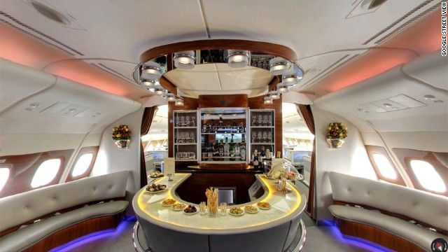 Google Street View Goes Inside The Airbus A380 Airbus A380