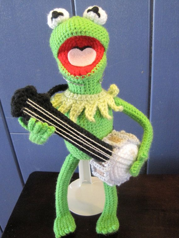 Kermit the Frog Inspired Amigurumi Crochet Pattern   Handarbeiten ...