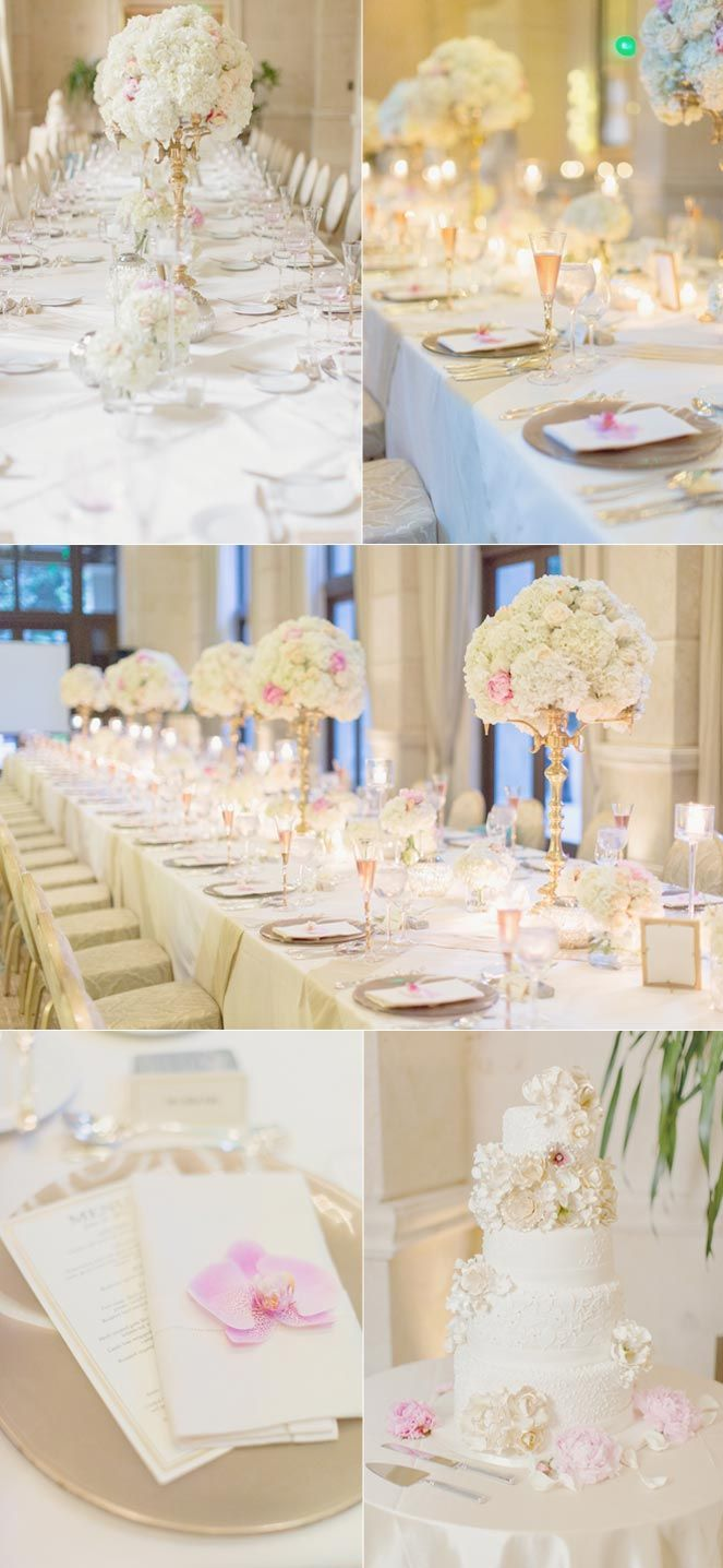 Pink and white reception decor #wedding (Images by Elisabeth @Milla ...