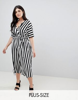 Dress In Stripe with High Neck and Batwing - Stripe Asos Curve Pick A Best For Sale With Credit Card Online Free Shipping Countdown Package lbFnvg0