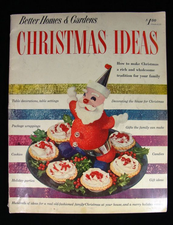 1952 Better Homes And Gardens Christmas Ideas Magazine Book Etsy Holiday Party Gift Christmas Decorations Better Homes And Gardens