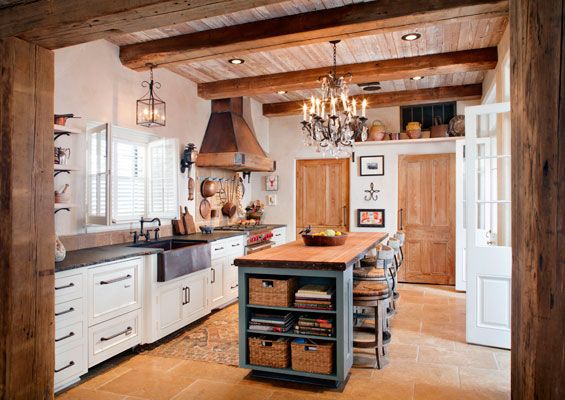 Copper Hood Soapstone And Butcher Block Terra Cotta Subway Amazing Country Kitchen Designs 2013 2018