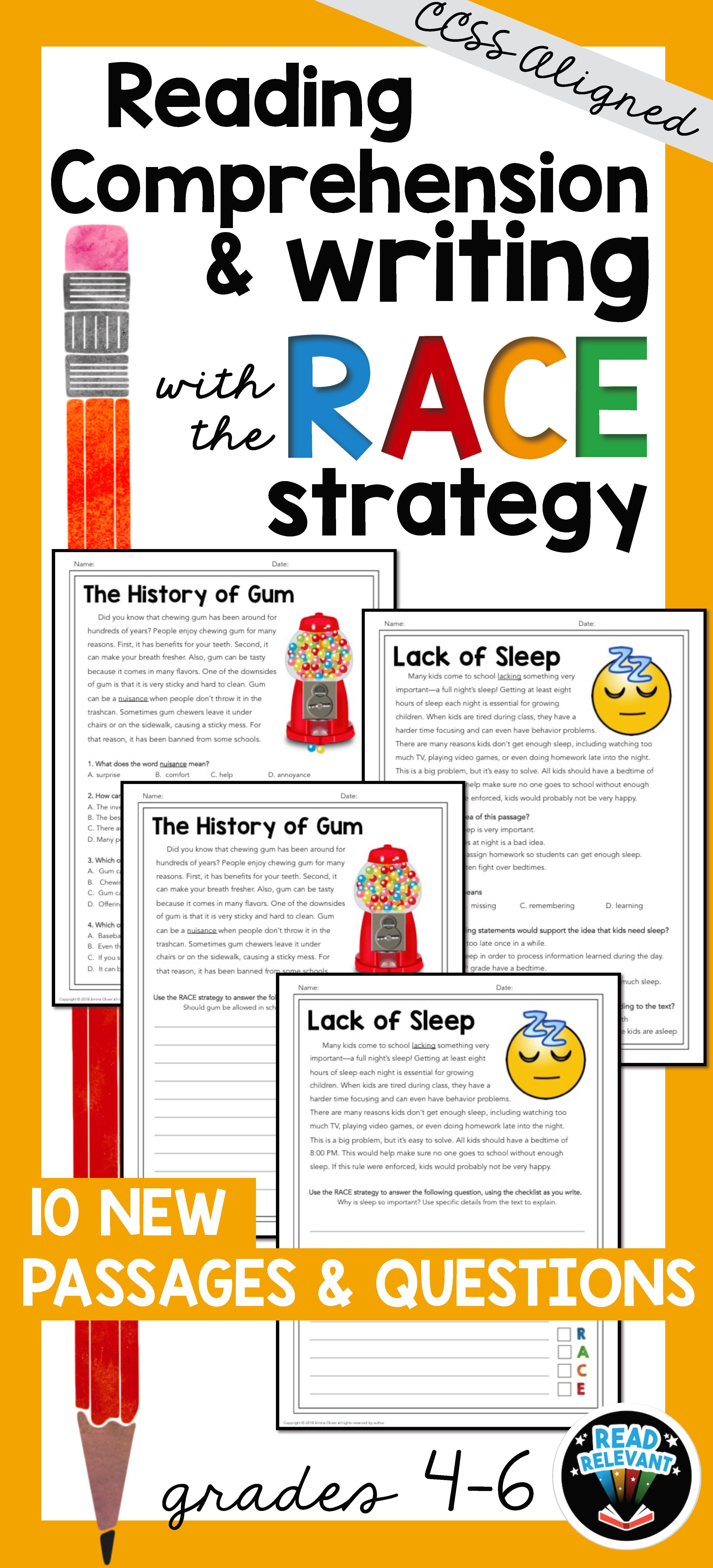 Reading Comprehension And Writing With The Race Strategy