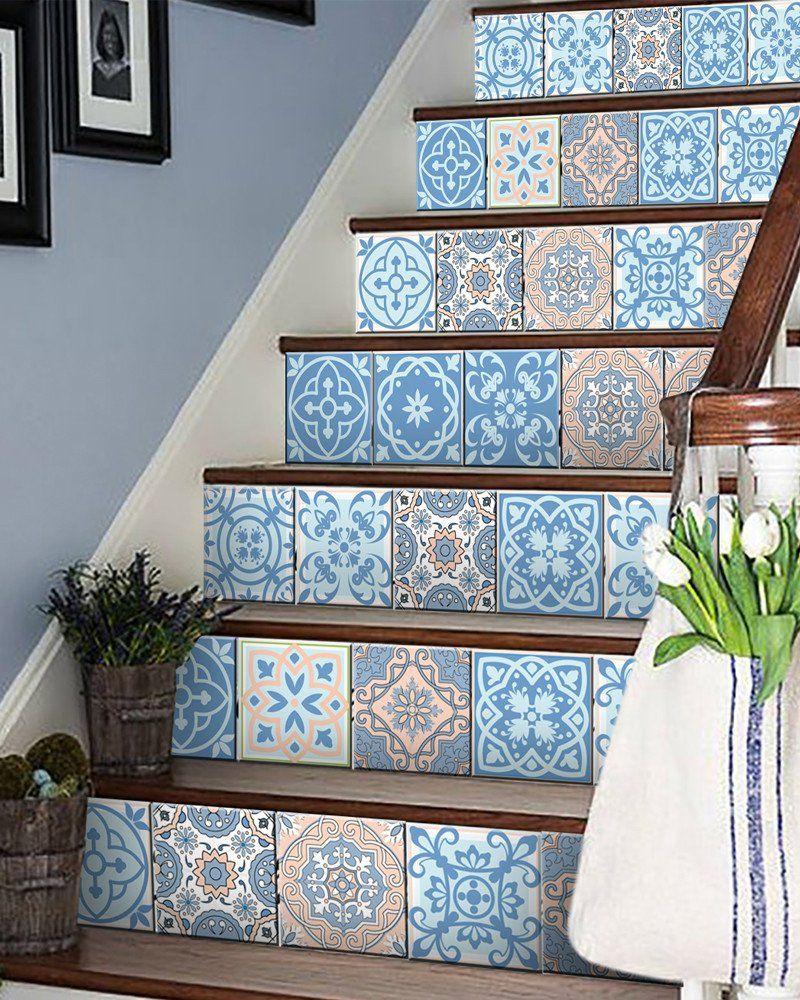 24 tile stickers Mexican style stickers mixed for walls Kitchen ...
