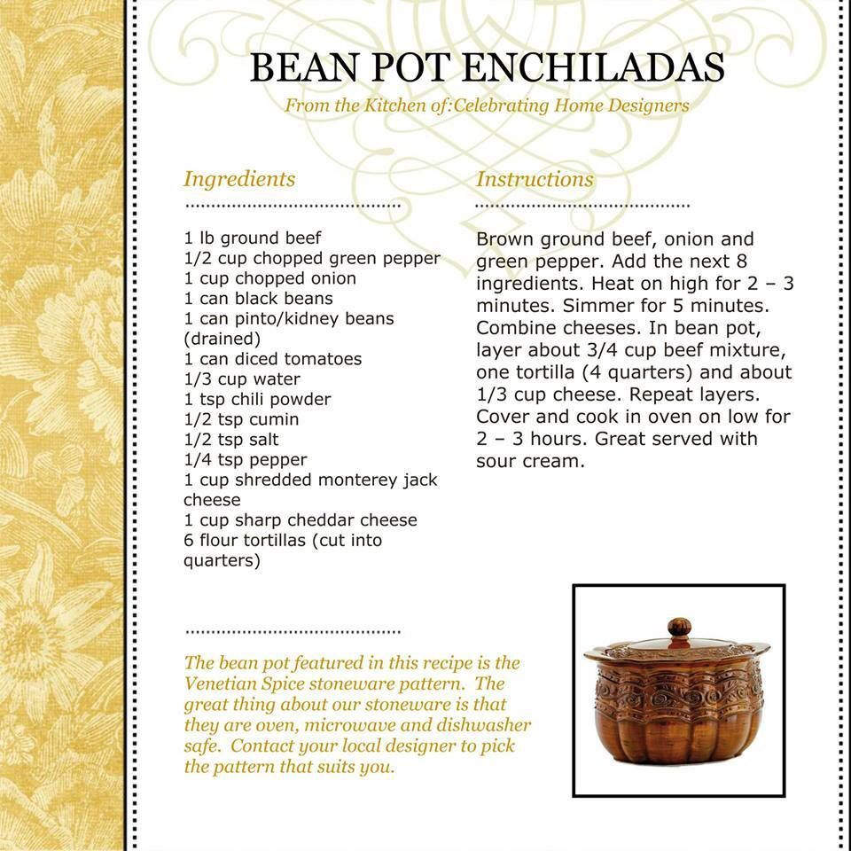 Bean pot enchiladas