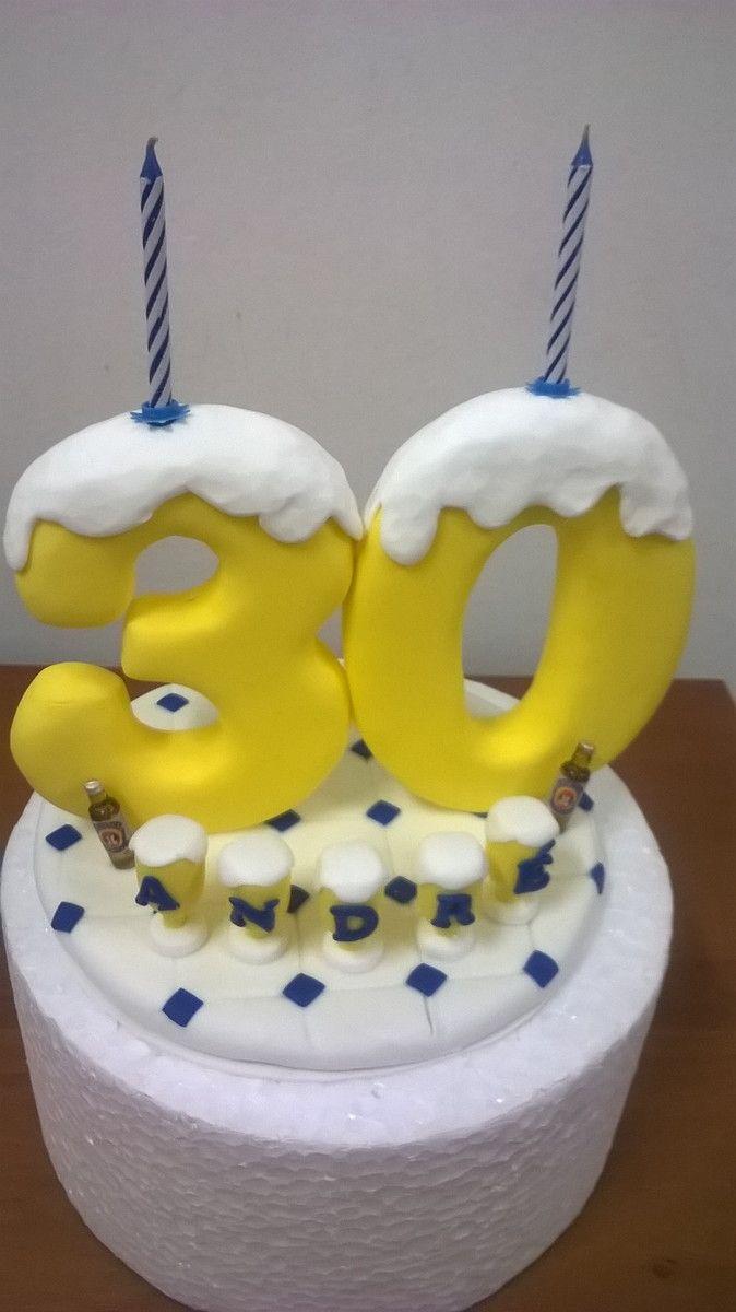 Topo de bolo aniversrio de 30 anos do andr velas de topo de bolo aniversrio de 30 anos do andr altavistaventures Gallery
