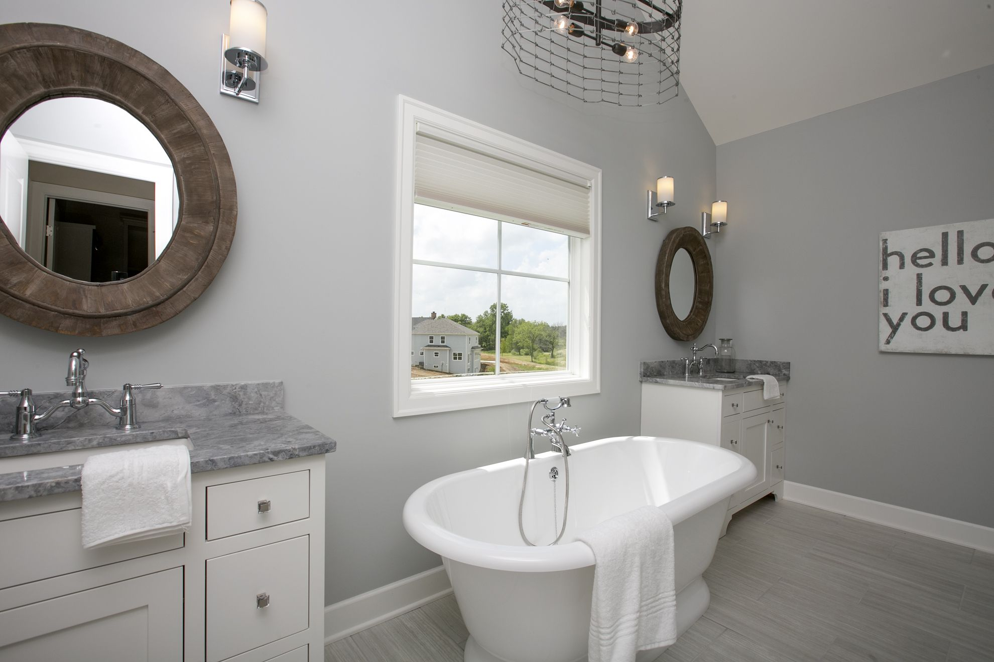 The owner's bath in the 2013 New England Homes Farmhouse ...