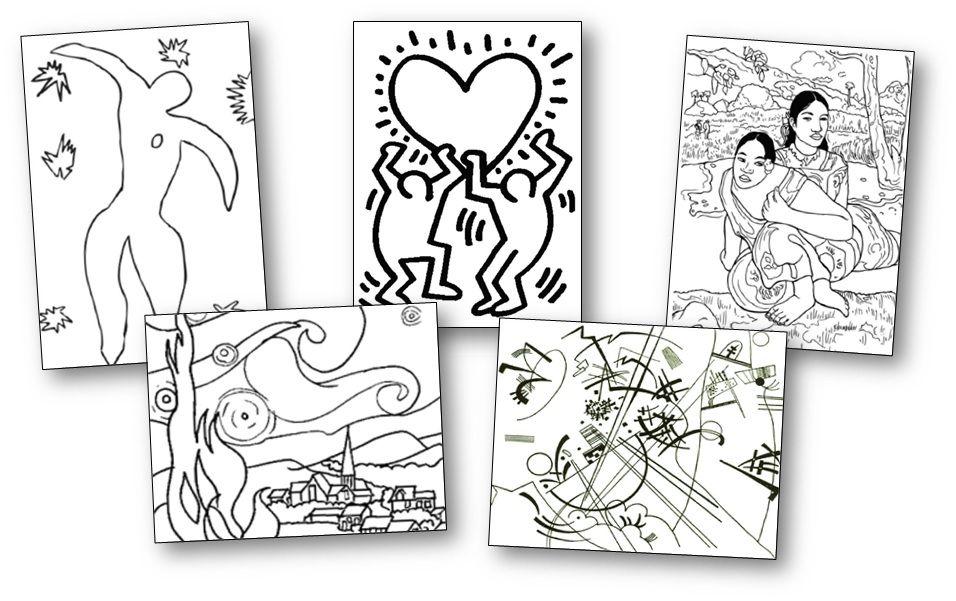 71 coloriages dœuvres dartistes peintres à imprimer.