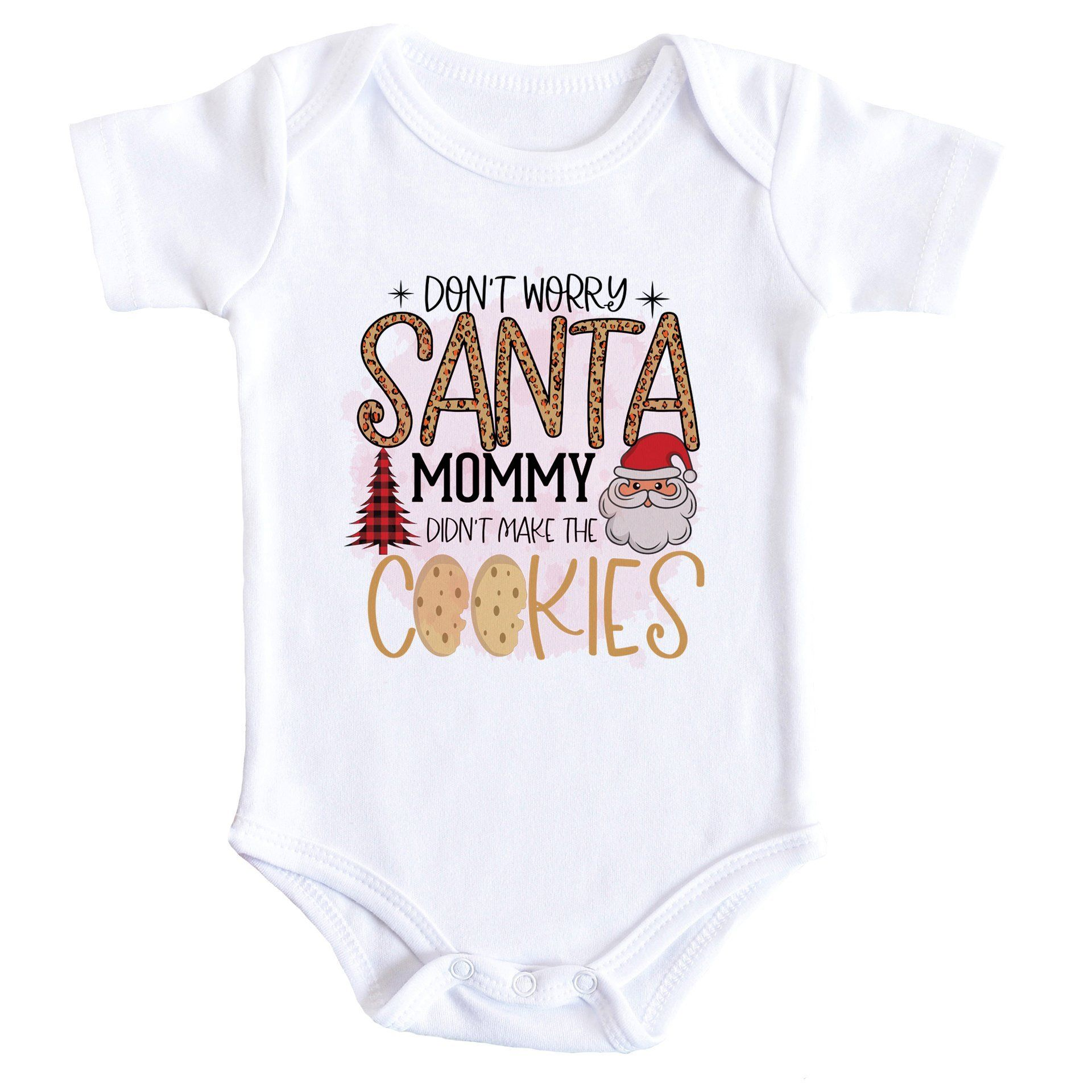 Don't Worry Santa Funny Quote Baby Bodysuit - 3-6 Months / Short Sleeve