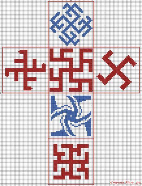 Вышивка крестом молвинец