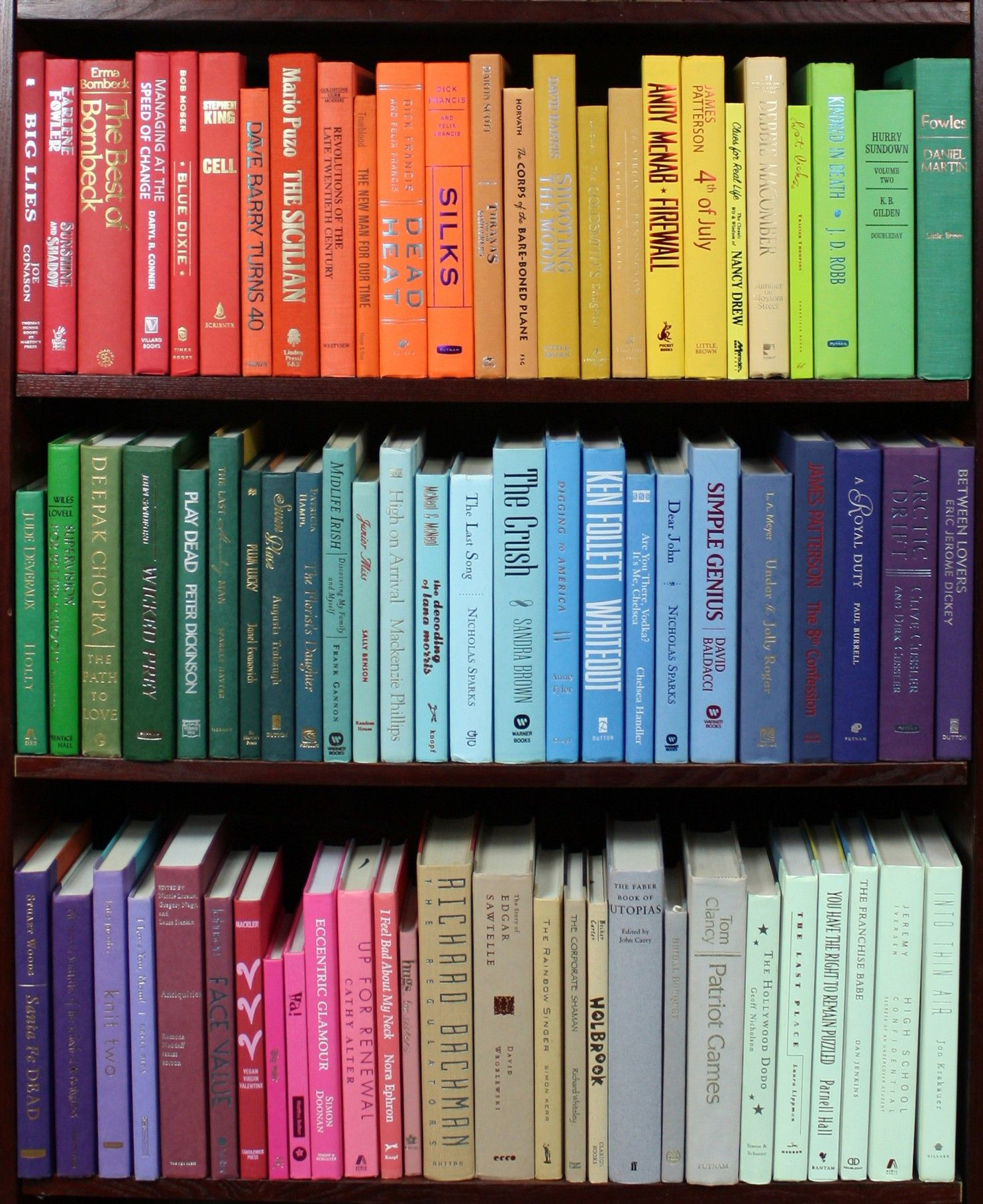 Organizing books by color Which camp are you in