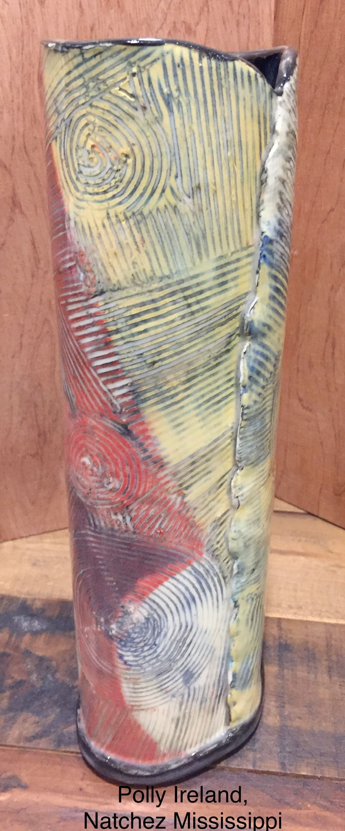 Vase Ceramic Vase With Layered And Carved Slips By Polly Ireland Natchez Mississippi Pottery Techniques Pottery Clay Vase