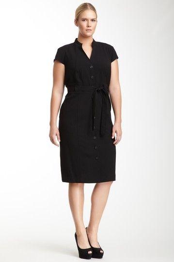 Cap Sleeve Button Front Dress By Calvin Klein On Hautelook Uhh