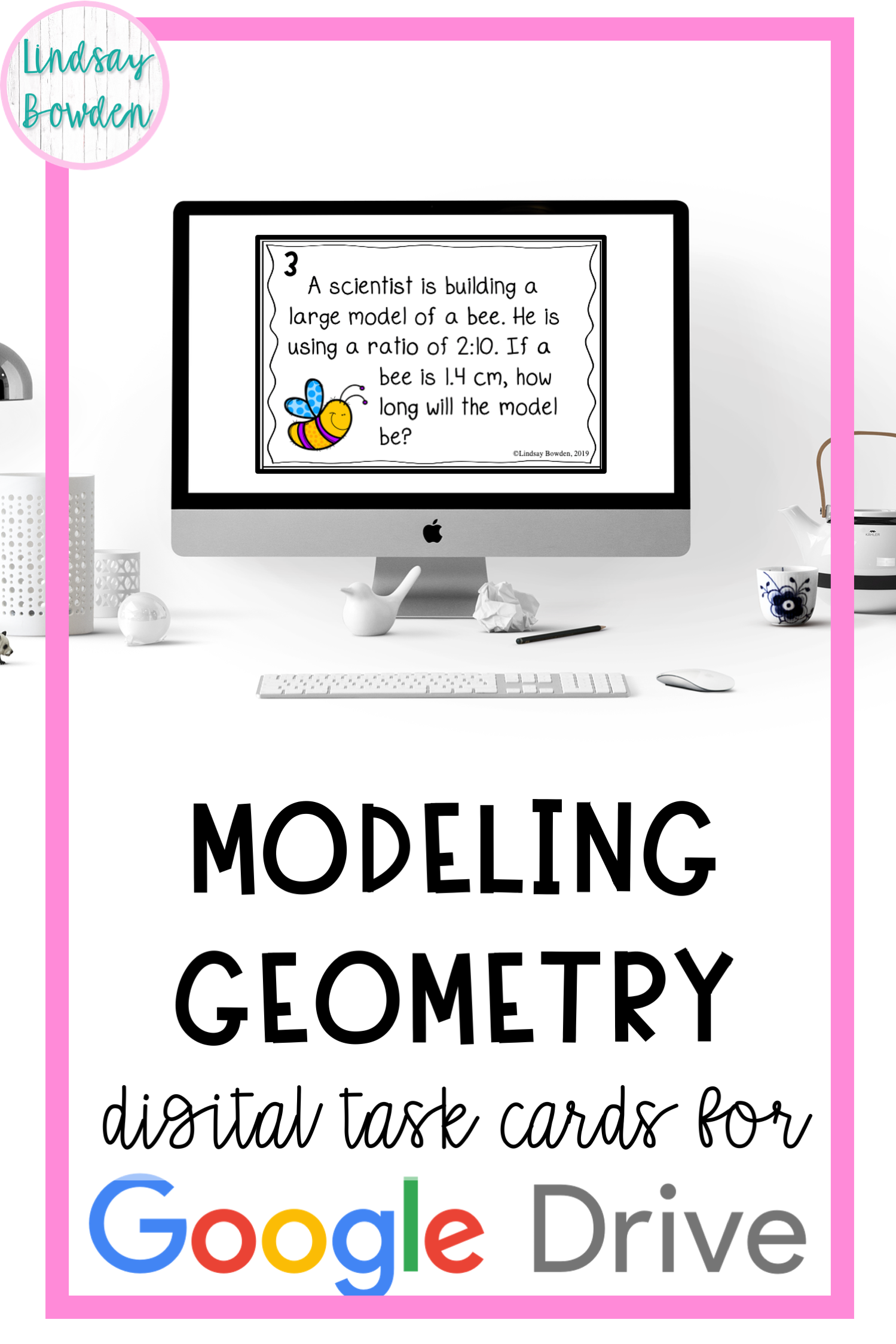These Modeling Geometry Digital Task Cards Are Editable