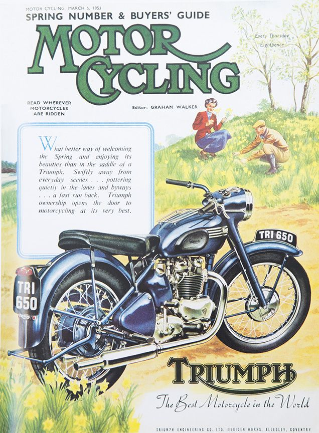 As Seen In Our Vintage Calendar Available Now And Priced To Sell At Http Shop Triumphmotorcycles Com Home Bike Poster Classic Motorcycles Motorcycle Posters