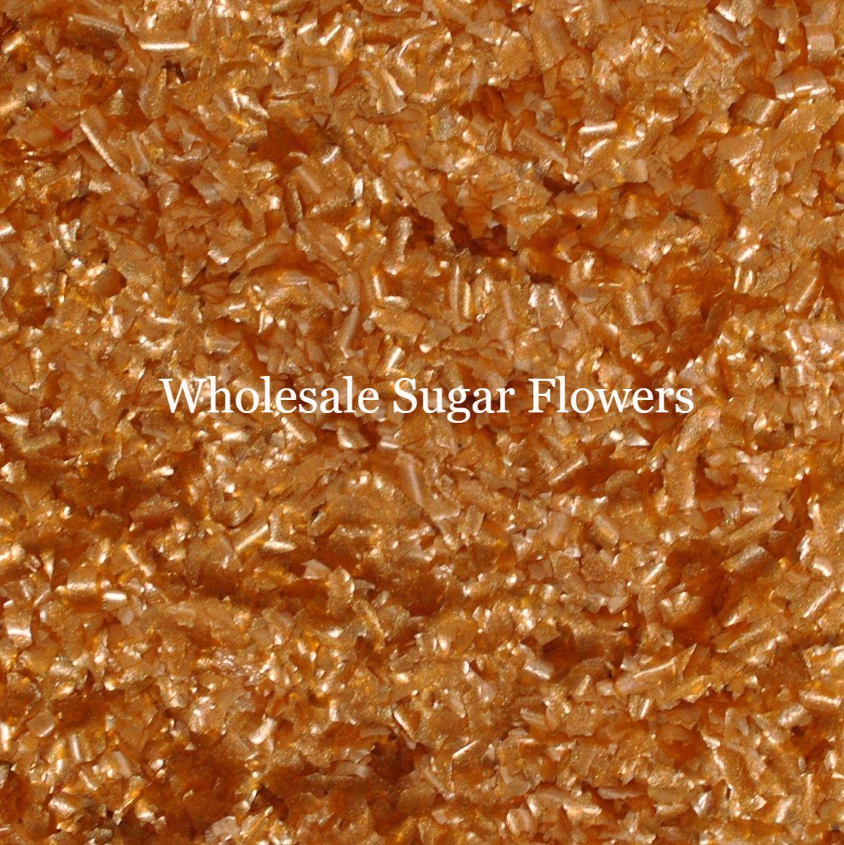 Edible Copper Glitter Flakes
