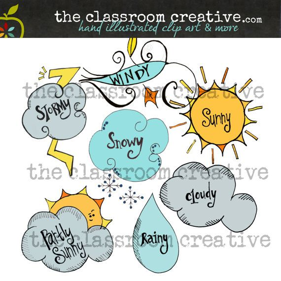 weather clip art great for making weather charts for your weather units this spring - Weather Pics For Kids
