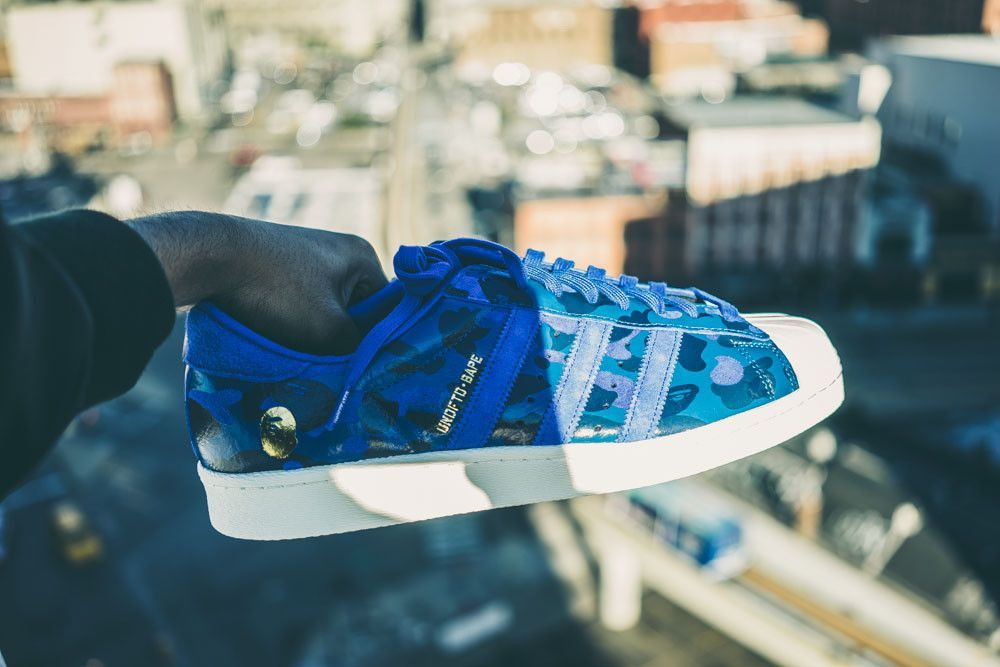 adidas Superstar Bape x Undefeated Blue | Adidas superstar