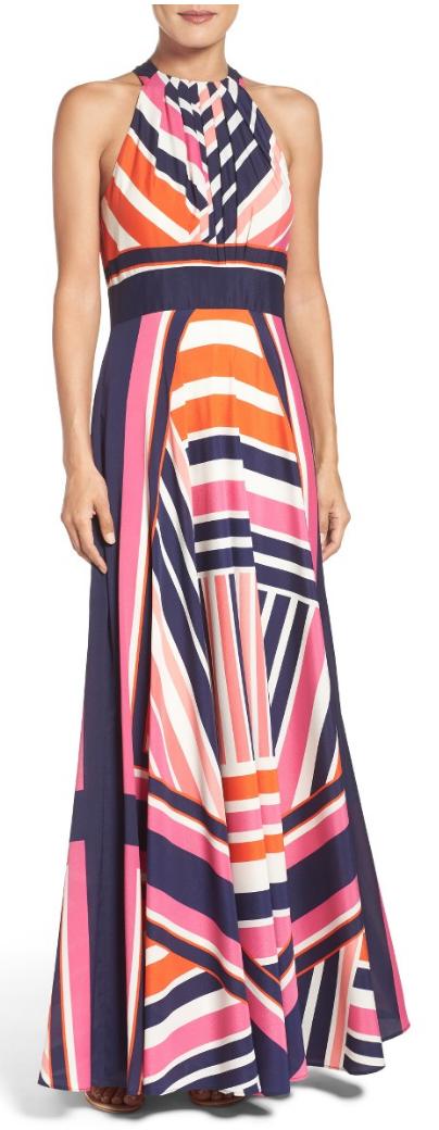 Bold Print Maxi Dress