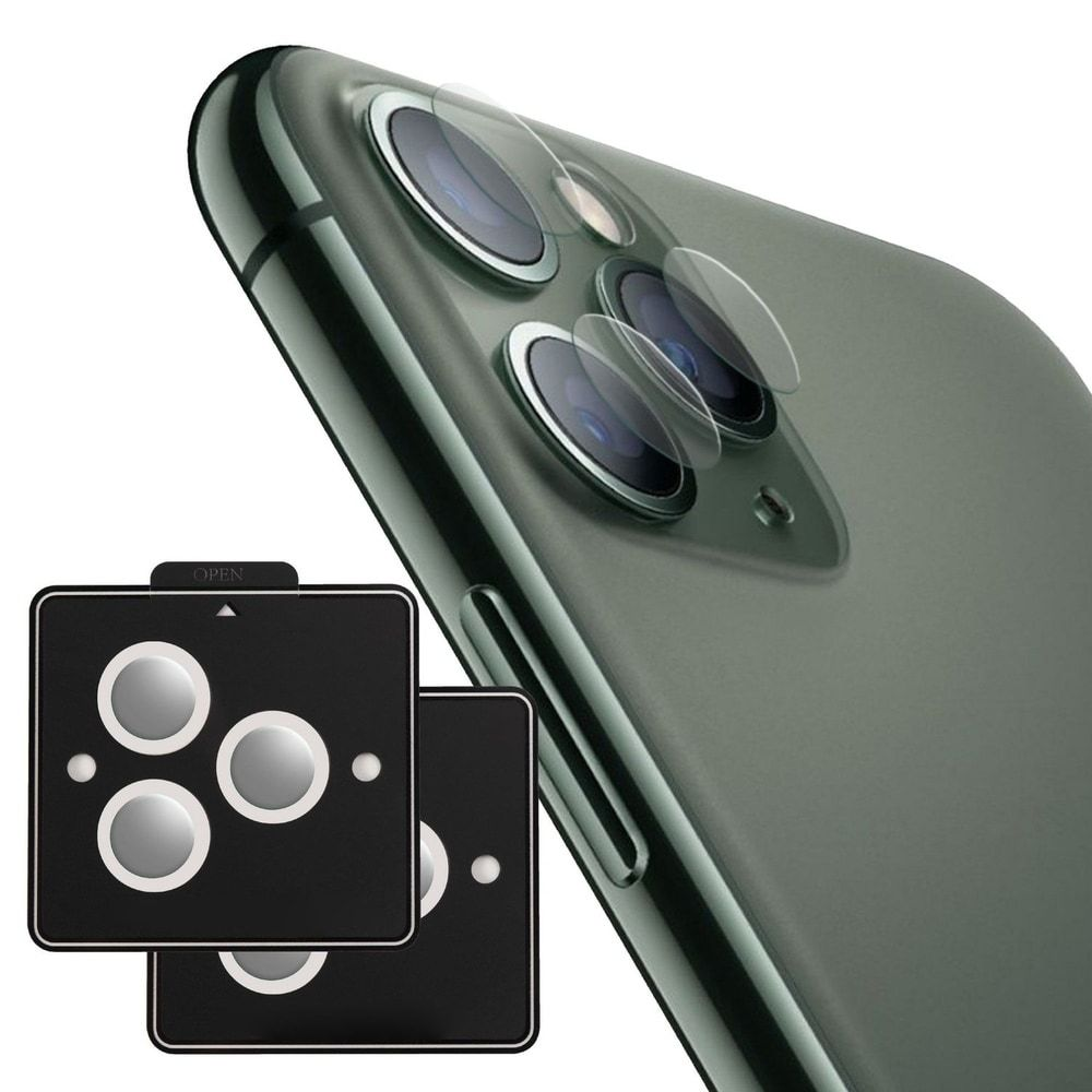 Camera lens tempered glass protector compatible with apple