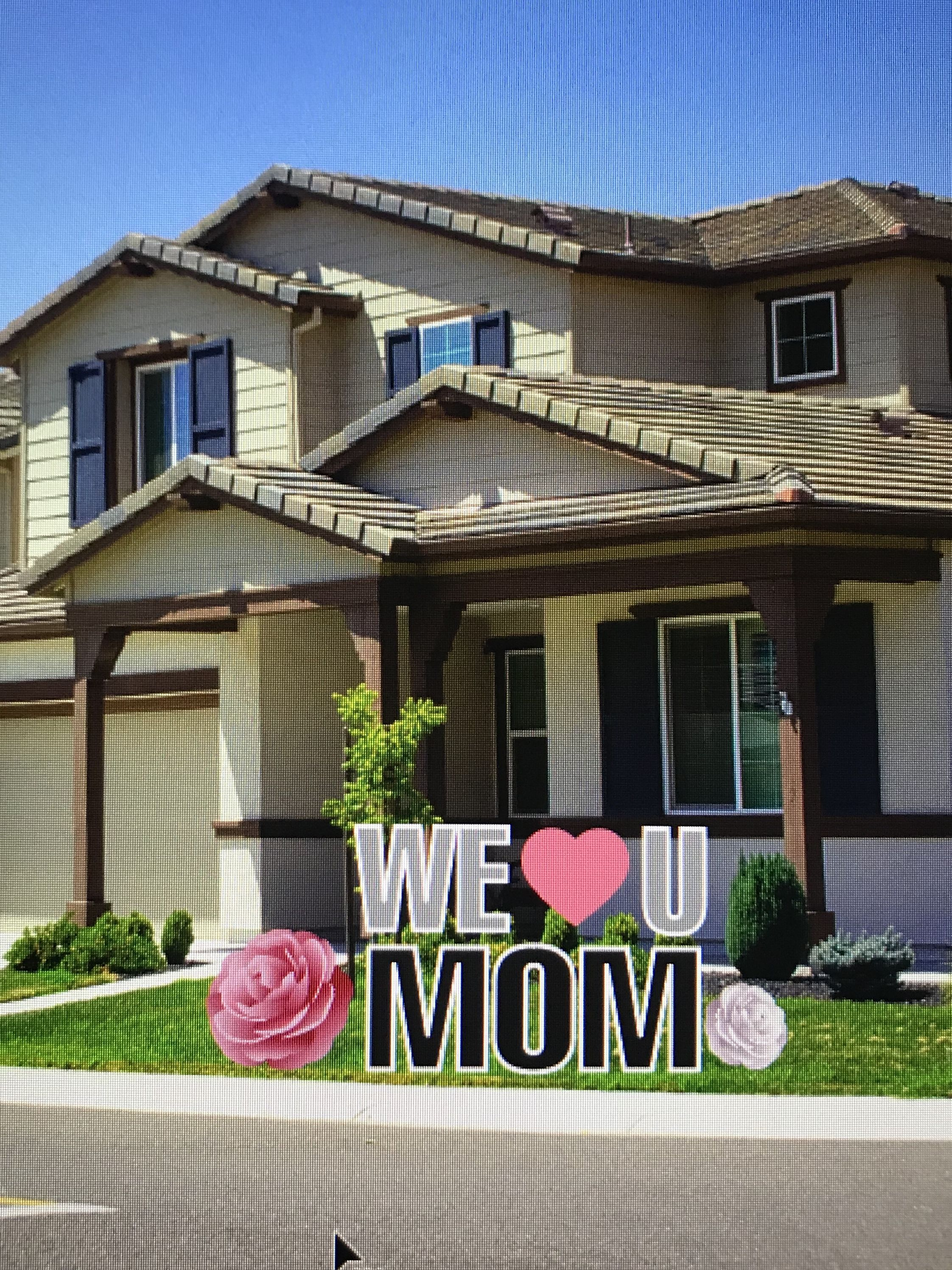 Happy Mother S Day Yard Sign In 2020 Yard Cards Happy Mother S Day Happy Mothers Day