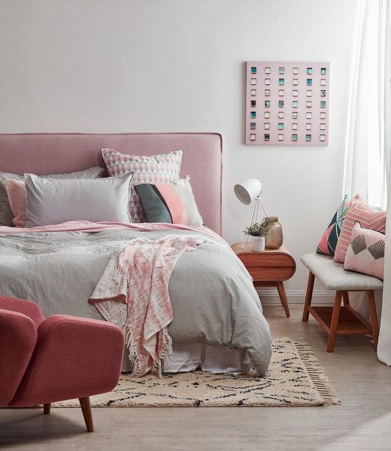 1001 id es pour une chambre rose poudr les int rieurs 2018 chambre coucher pink - Peinture rose pale pour chambre ...