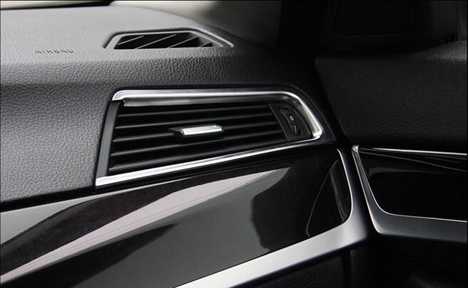 Car Styling Chrome Air Conditioning Vents Frame Cover Trim For Bmw