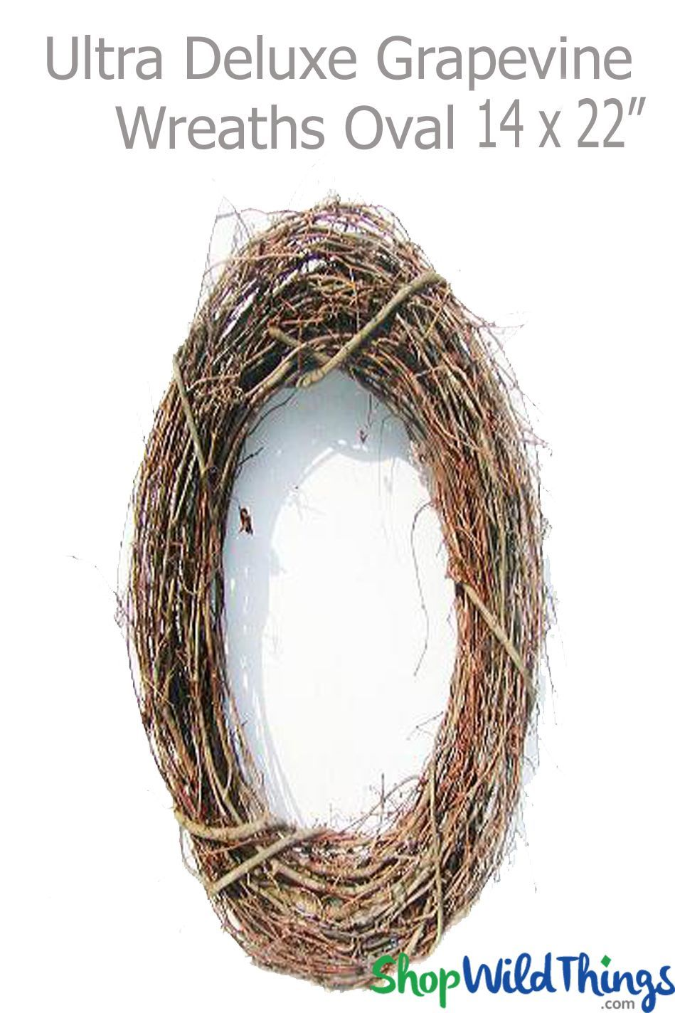 Grapevine Wreath 14 x 22 Oval  Premium UltraDeluxe hang  drape with floralcrystals  Winter spring summer or fall a Grapevine Wreath is a fun and easy item to decorate and...
