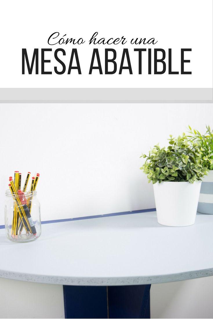 C mo hacer una mesa abatible mesa abatible tableros de - Como hacer una mesa abatible ...