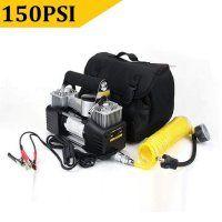 Portable Car Air Pump Auto Electric Air Compressor Tire Inflator 12V 150PSI 60W