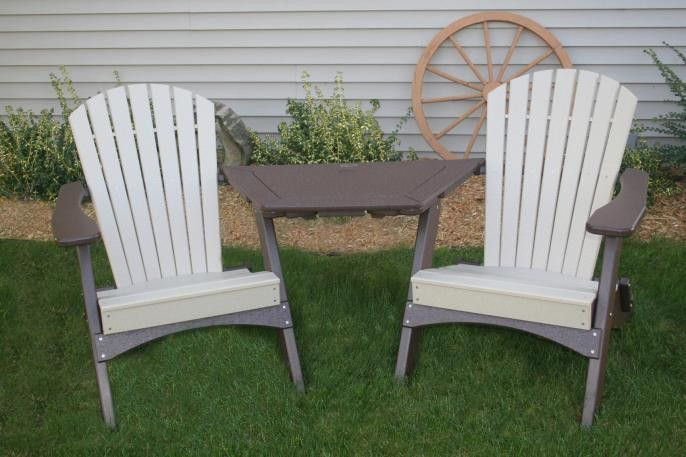 Perfect Choice Outdoor Furniture Tete-A-Tete Adirondack Table ...
