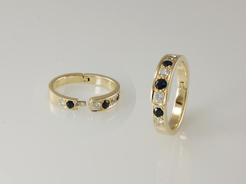 Hinged ring for arthritic fingers Sadly many of us suffer from
