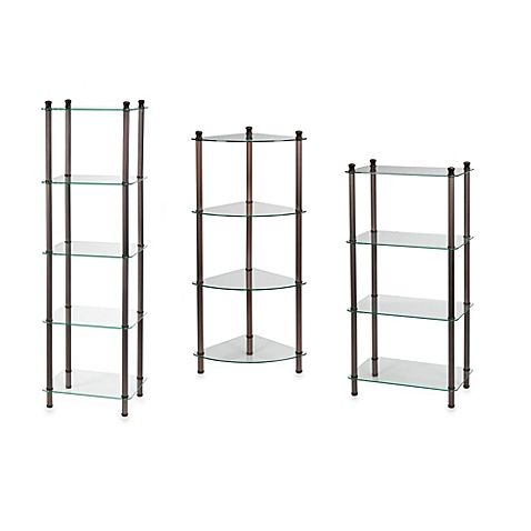 L Etagere Shelf Towers Collection Bed Bath Beyond Bathroom Furniture Storage Shelves Corner Shower Caddy