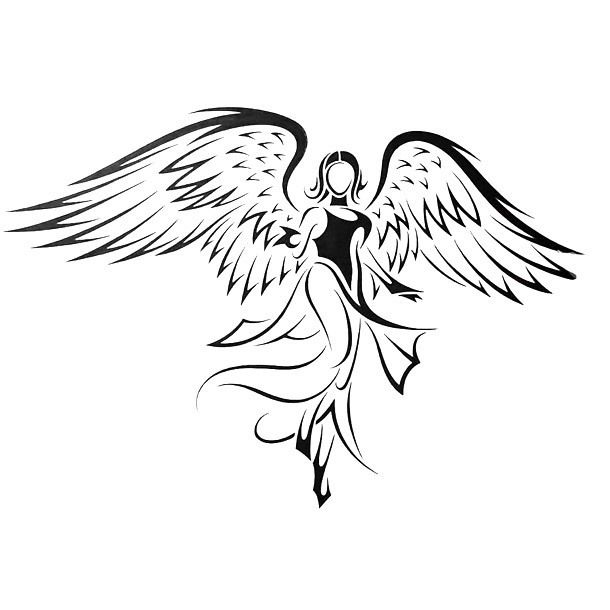 Amazing Angel Tattoo Design Angel Drawing Guardian Angel Tattoo Designs Tribal Drawings