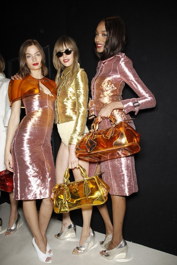Backstage at Burberry Prorsum RTW Spring 2013 had to share