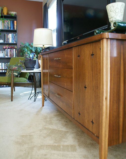 refinished broyhill saga credenza found at goodwill