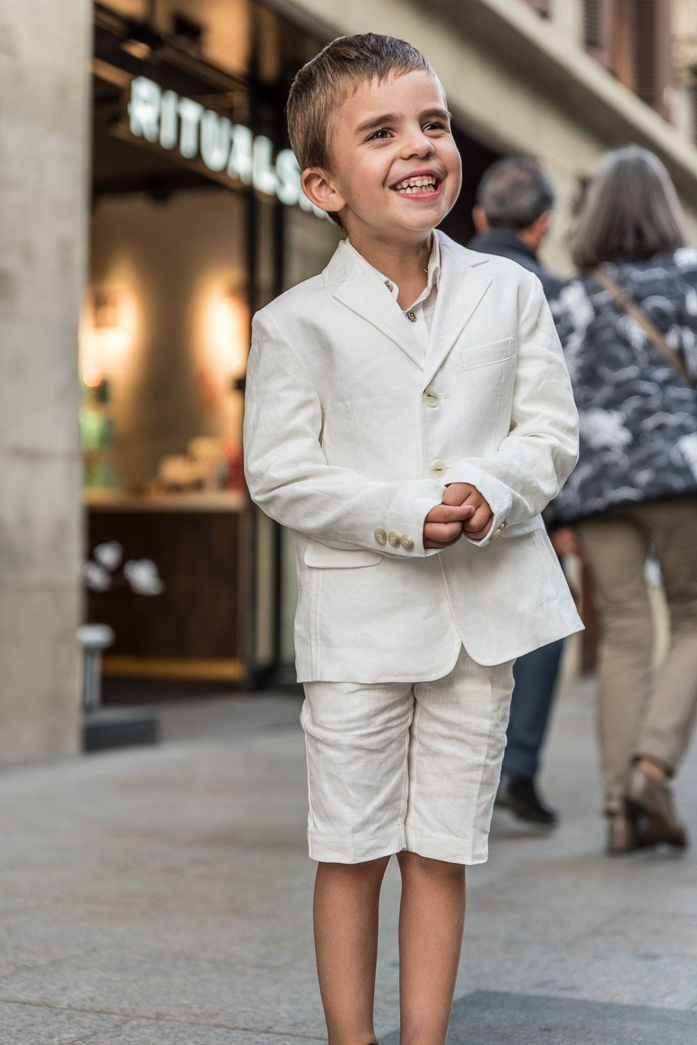 Boys Linen Suit Summer Formal Wear Kids Linen Outfit Communion