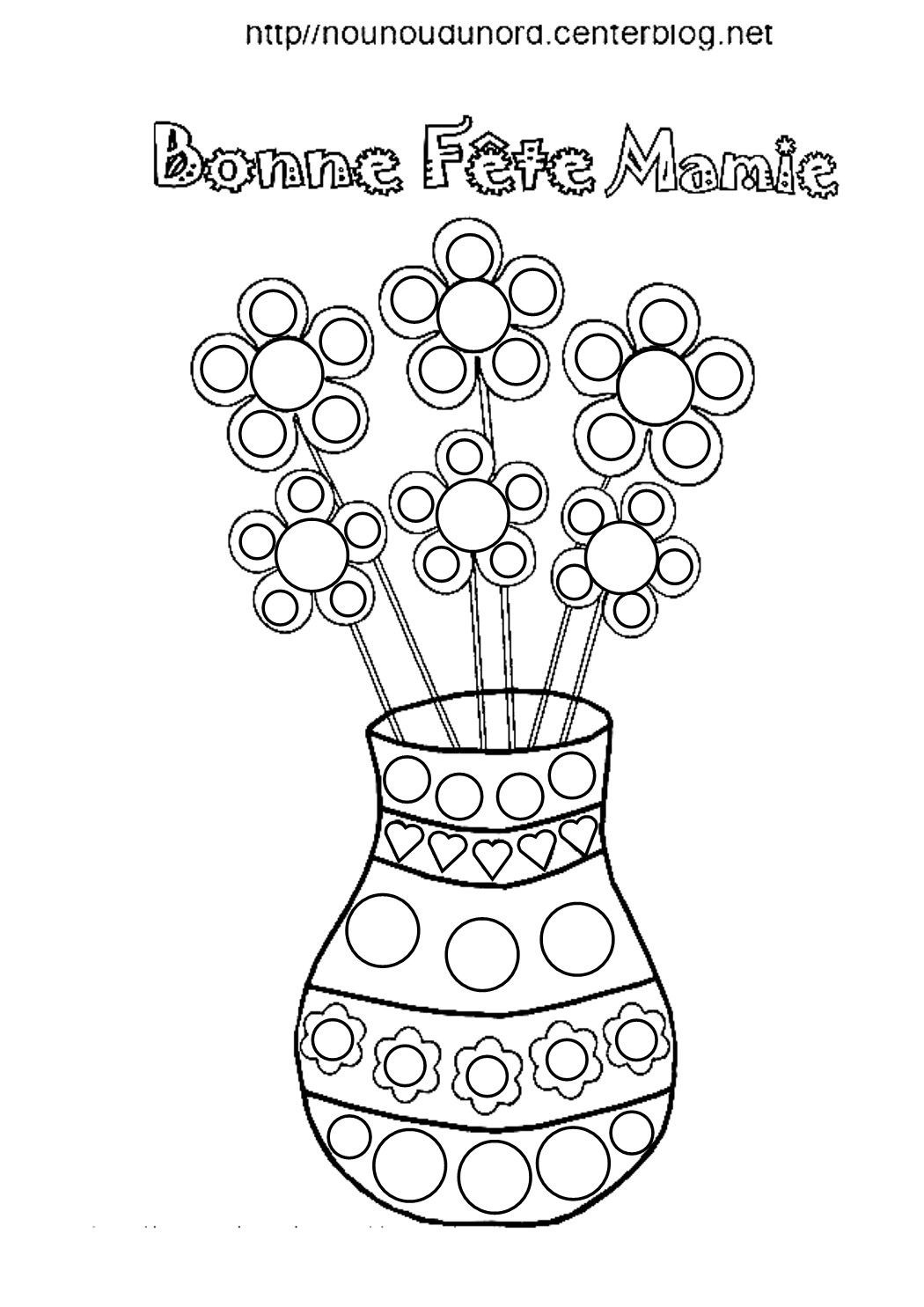 Liste de mes coloriages pour la fête des mamies  Coloriage, Fete