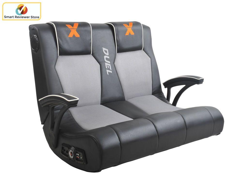 Ergonomic X Rocker Dual Commander Gaming Chair 2 1 Audio