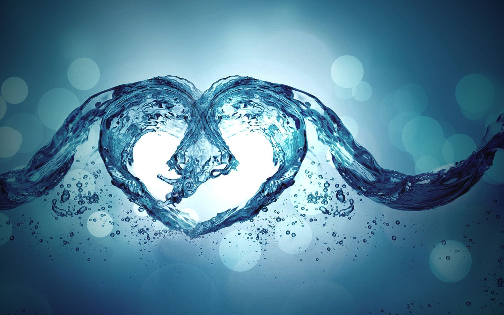 Love Water Heart With Images Water Art Heart Wallpaper Love