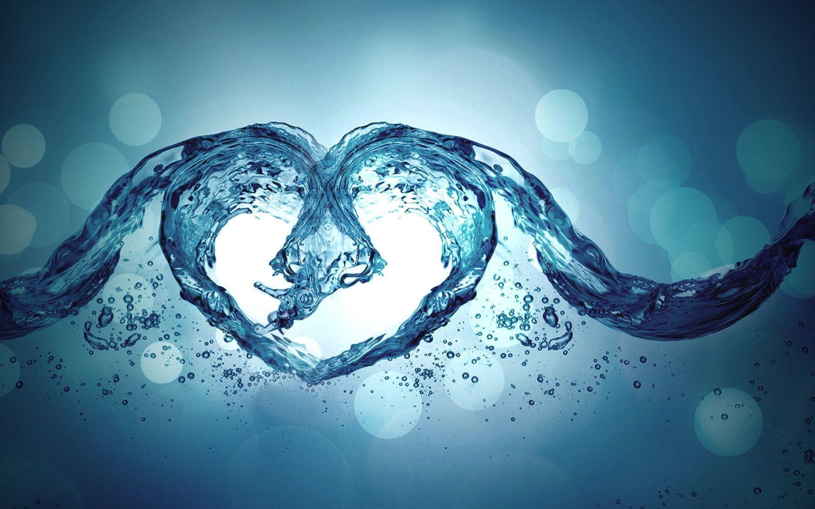 Love Water Heart Water Art Heart Wallpaper Love Wallpaper