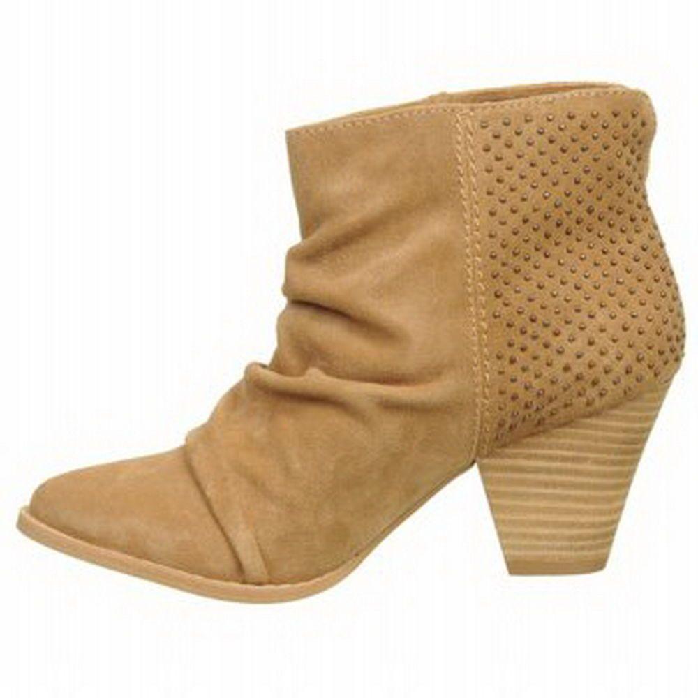 """SPLENDID """"Reseda"""" Nut/Camel Studded Suede Ankle Boots Sz 10M  #Splendid #FashionAnkle"""