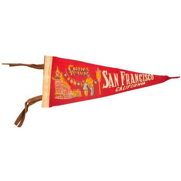 Vintage San Francisco California China Town Felt Flag Pennant (£18 ...