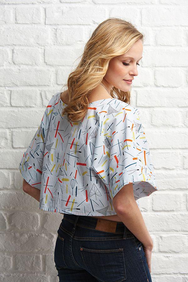 Free sewing pattern: quick kimono top | Pinterest | Kleidung und Nähen