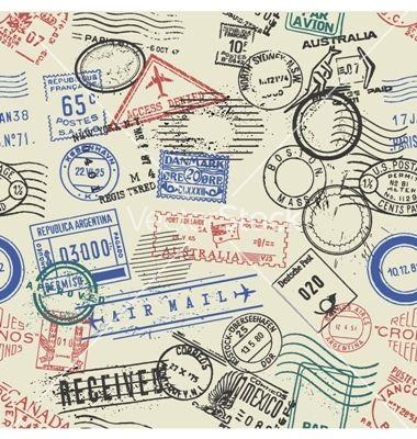Ephemera Postage Wallpaper
