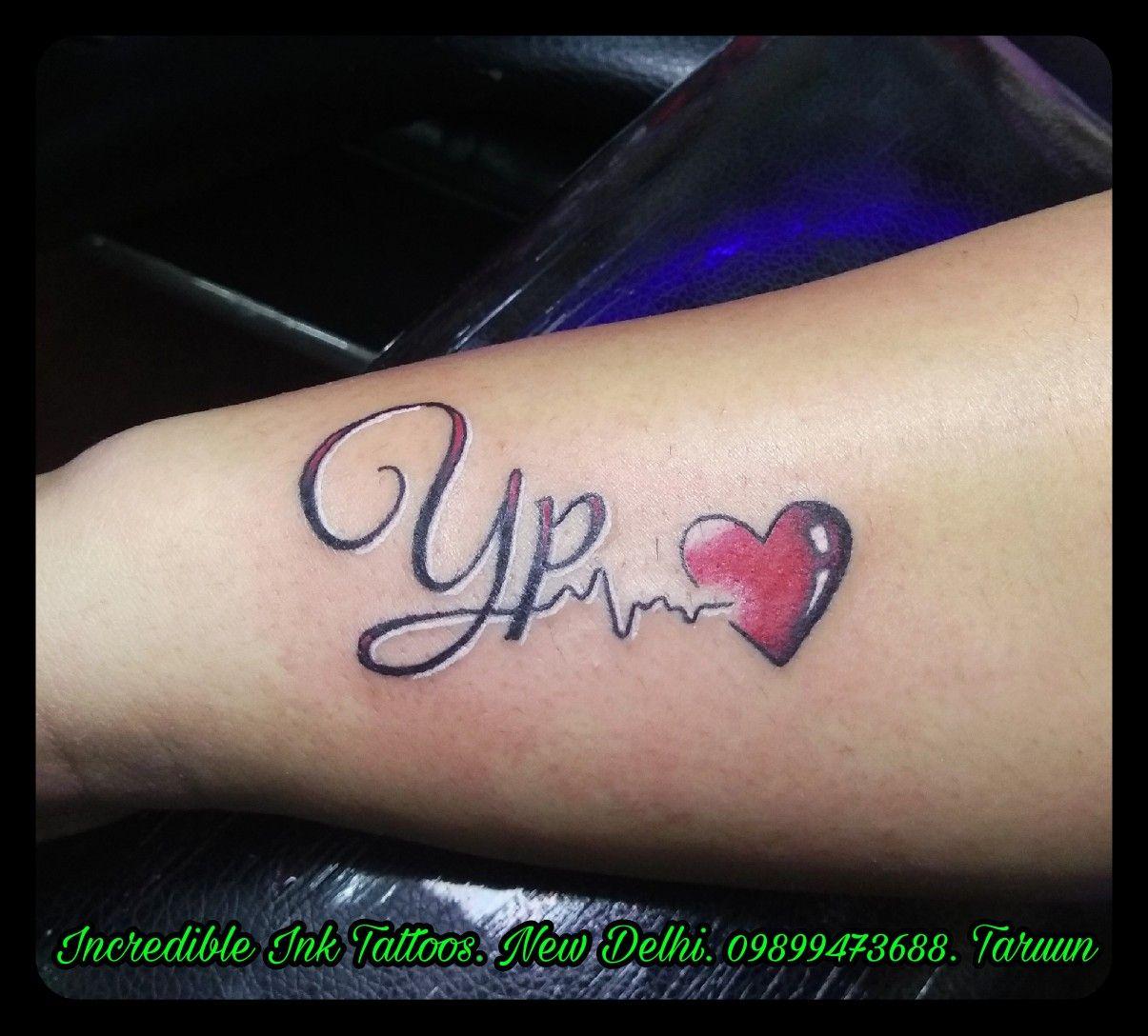 Yp Initial Tattoo Heartbeat Yp Initial Heartbeat Tattoo Call Whatsapp 09899473688 Heartbeat Tattoo Heartbeat Tattoo Design Love Tattoo On Hand