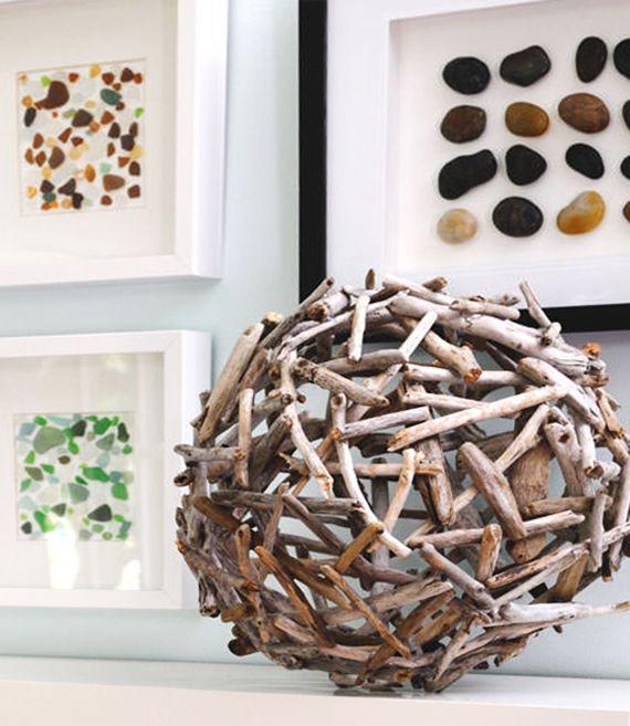 Lovely treibholz kugel als kreative dekoidee f r terrasse und wohnzimmer