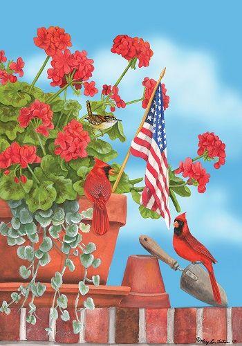 Custom Decor Flag - Cardinal Salute Decorative Flag at Garden House Flags at GardenHouseFlags